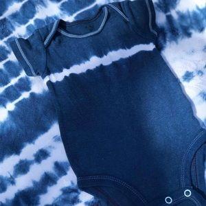 Shibori Hand dyed Carter's Baby onesie